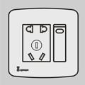 一位单/双控开关带二三极插座