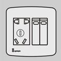二位单/双控开关带二三极插座