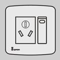 一位单/双控带三极扁圆插座